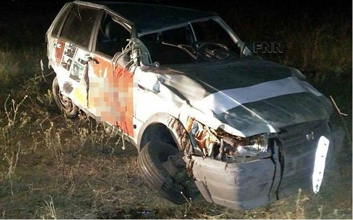 Carro envolvido em acidente na BR-407, em Jacobina do Piauí