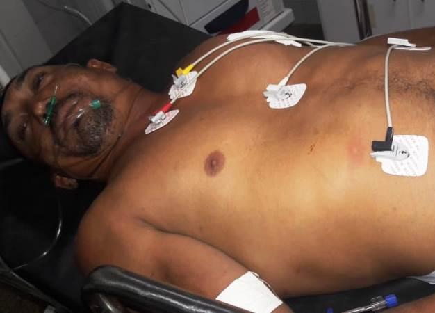 Vítima foi encaminhada para o hospital (Crédito: Reprodução/Portal de Campo Maior)