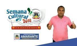 Secretário de Amarante fala sobre semana cultural da cidade