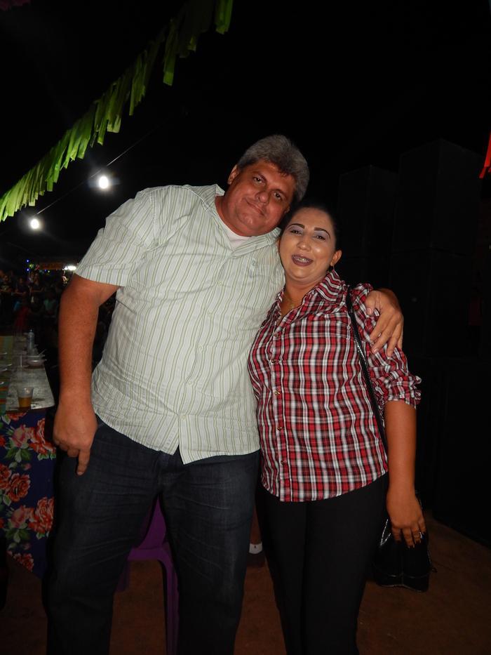 Valdinar Mariano com a Vereadora Erislene Monteiro