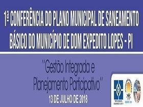 Conferência Municipal aprova P M S B de Dom Expedito Lopes - PI