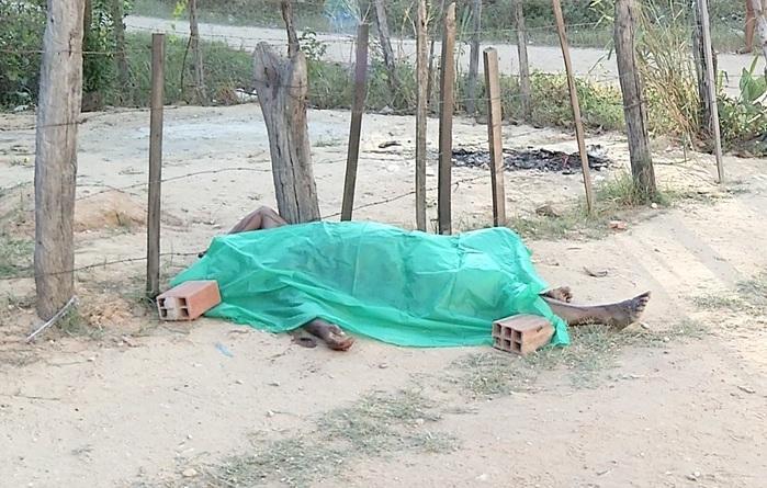 Corpo de peixeiro assassinado em Teresina (Crédito: Rede Meio Norte)