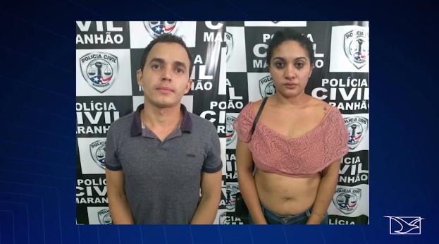 Wemerson Barros e a namorada Ana Lúcia Pereira (Crédito: TV Mirante/Reprodução )