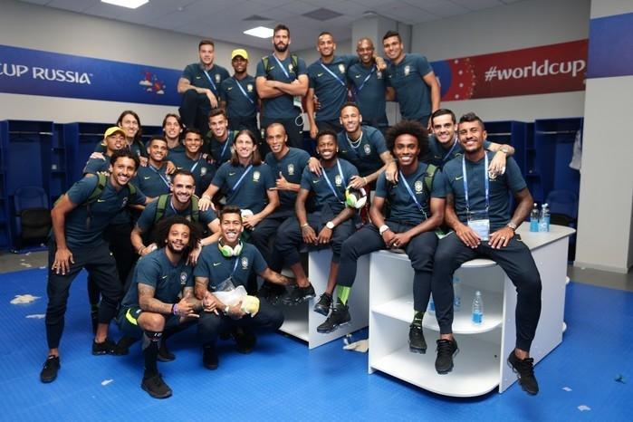 Time da seleção brasileira (Crédito: Lucas Figueiredo/CBF)