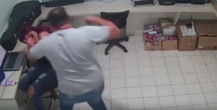 Vídeo mostrou agressão (Crédito: Reprodução)