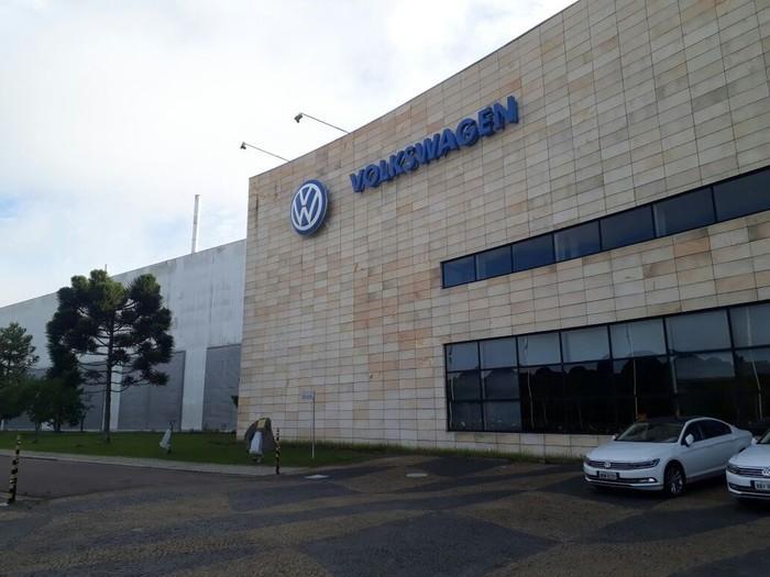 Fábrica da Volkswagen em São José dos Pinhais (PR)  (Crédito:  Letícia Paris/G1)