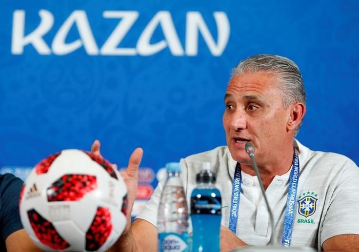 Tite em coletiva da seleção brasileira  (Crédito: Reuters)