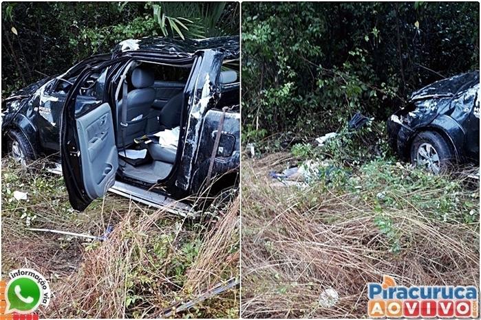 Veículo ficou destruído (Crédito: Reprodução/Piracuruca ao Vivo)