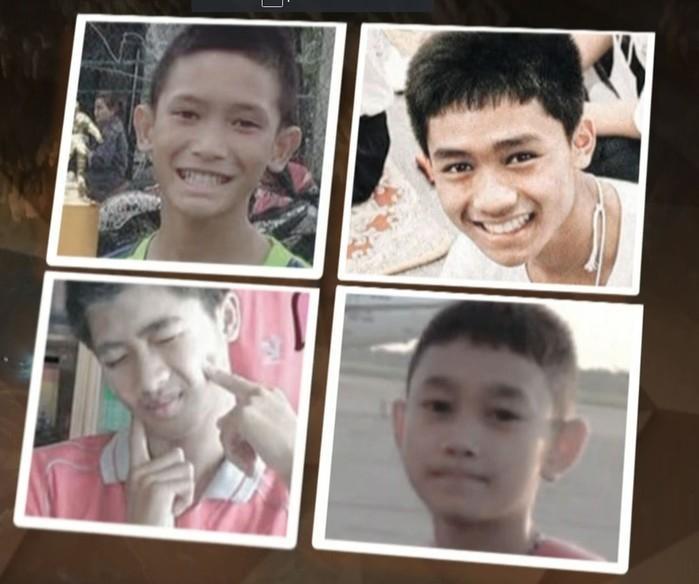 Quatro jovens que foram resgatados ontem (Crédito: Reprodução/Fantástico/ TV Globo)