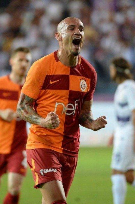 Maicon comemora gol pelo Gala  (Crédito: Reproduçao Twitter / Maicon Roque)