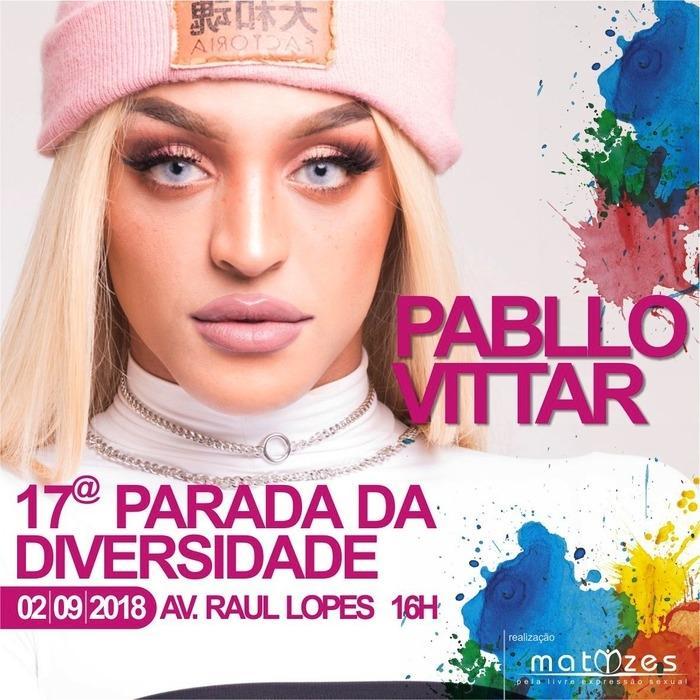 Pablo Vittar será atração na 17ª Parada da Diversidade de Teresina