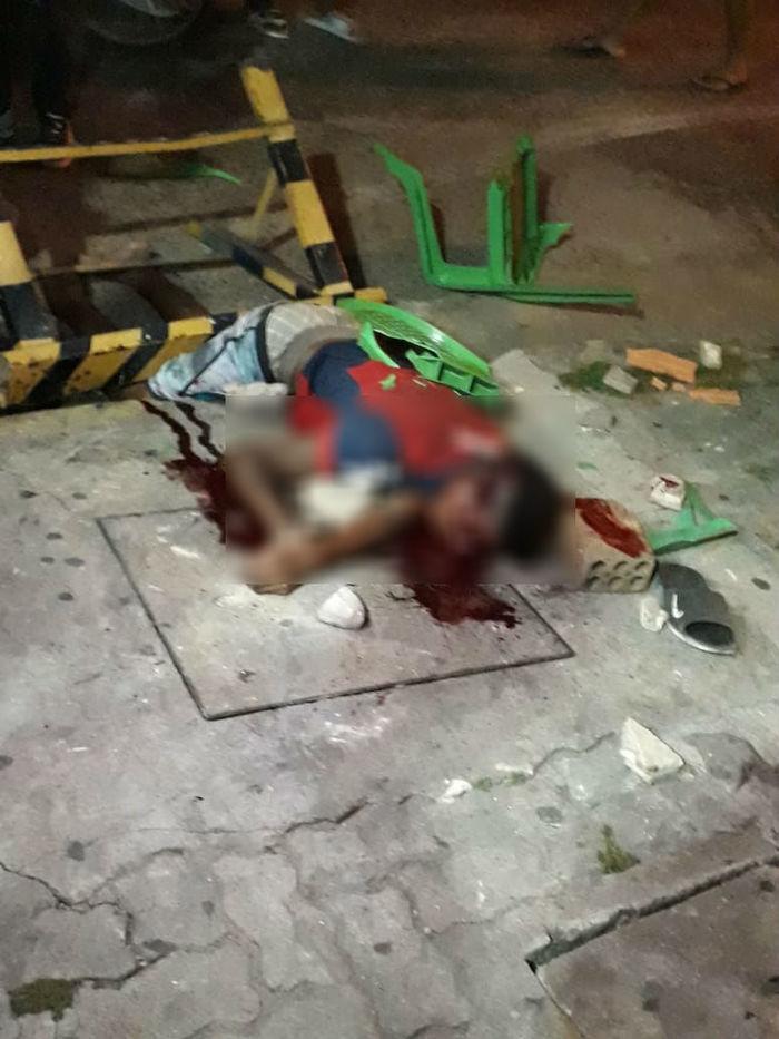 Homem foi agredido após esfaquear a ex (Crédito: Reprodução)