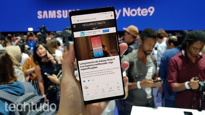 Galaxy Note 9 (Crédito: Thássius Veloso / TechTudo)