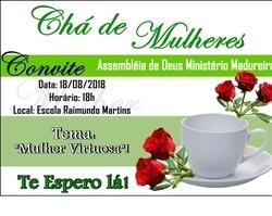 Igreja Evangélica de Coivaras realizará Chá de Mulheres