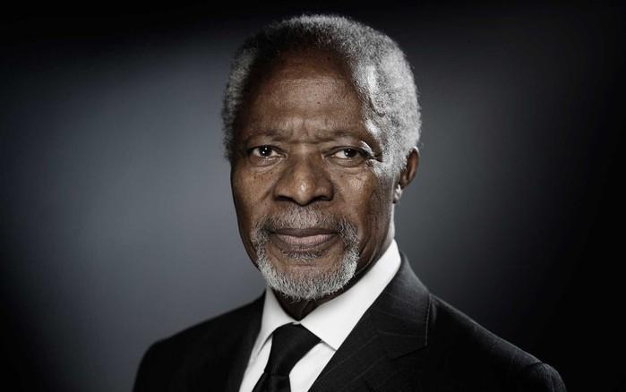 Kofi Annan em dezembro de 2017  (Crédito: Joel Saget / AFP)
