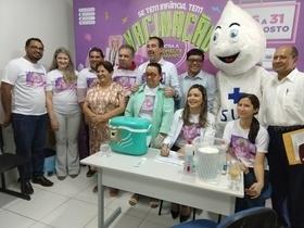 Ministro da saúde visita Demerval Lobão no dia D de vacinação