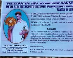 Festejos de São Raimundo Nonato comunidade Sapucaia