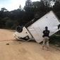 Jovem é preso após capotar caminhão com 746 kg de maconha no PR
