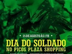 Picos Plaza Shopping comemora Dia do Soldado com 3º BEC e PM