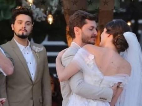 Reação de Luan Santana no casamento de Camila Queiroz viraliza