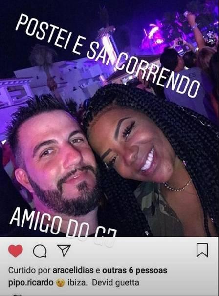 Amigo de Gabriel Jesus e Ludmilla na festa em Ibiza (Crédito: Reprodução/instagram)