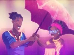 Animação traz amor preto em um clipe Luciane Dom