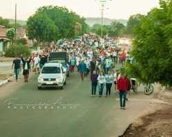 3ª Caminhada rumo a Casa de Maria no município de Bertolínia.