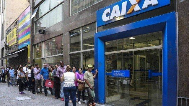 Agência da Caixa Econômica Federal: o banco paga os abonos do PIS (Crédito:  Edilson Dantas)