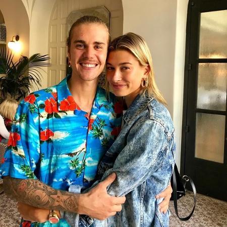 Justin Bieber e a noiva, Hailey Baldwin (Crédito: Reprodução)