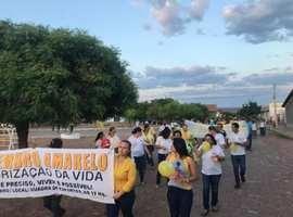 Caminhada marca o setembro amarelo em Santo Inácio