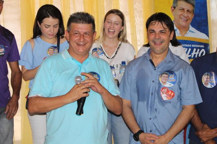 Candidato a Deputado Zé Filho e Prefeito Roger Linhares (Crédito: Mikelson Deivid)