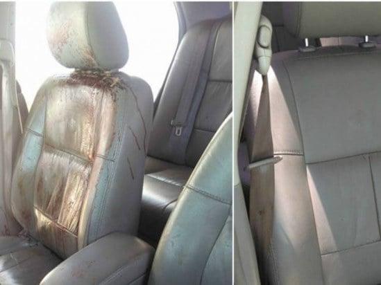 Lava jato cria polêmica após 'antes e depois' de carro com sangue