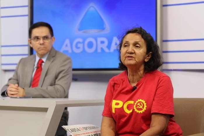 candidata ao Governo do Piauí pelo Partido da Causa Operária (PCO), Lourdes Melo (Crédito: Efrém Ribeiro)