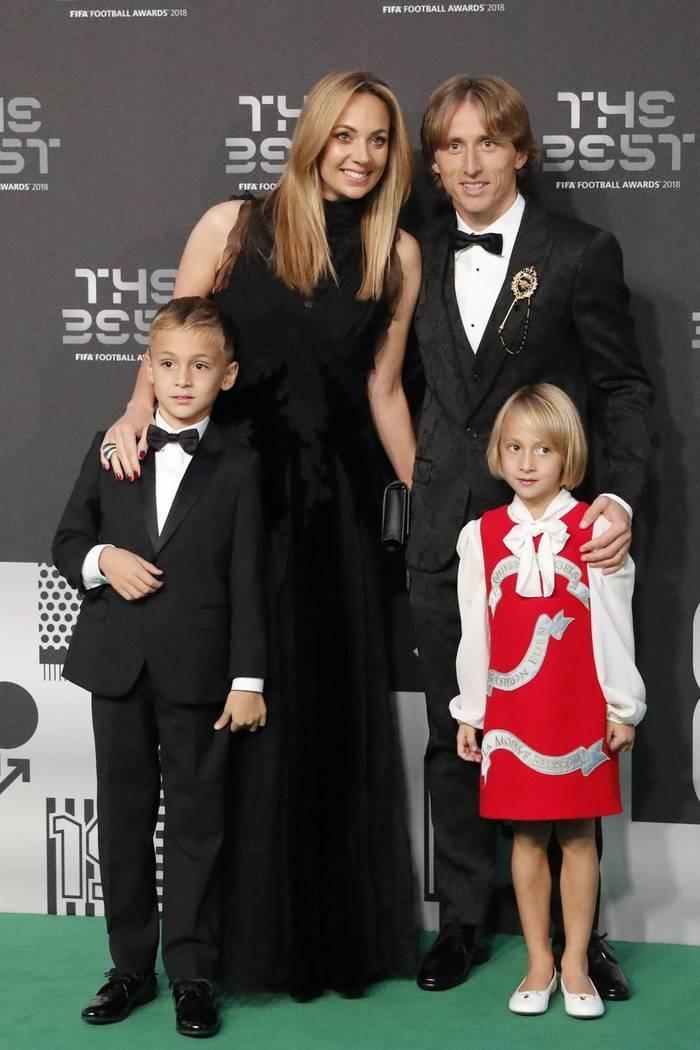 Modric com a família no The Best