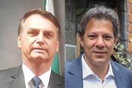 Nova pesquisa aponta que Bolsonaro mantém 33% e Haddad salta a 23%