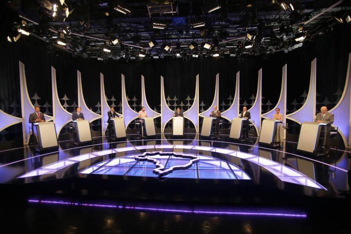 Debate entre os candidatos à Presidência da República realizado por SBT/UOL/Folha (Crédito:  Nilton Fukuda/Estadão)