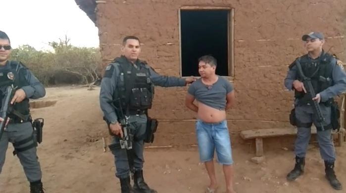 Acusado foi preso na zona rural (Crédito: Reprodução)