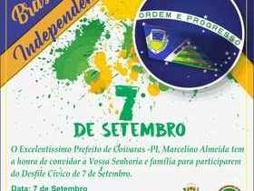 Prefeitura de coivaras promoverá desfile cívico de 7 de setembro