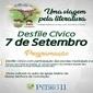 Município divulga programação do dia 7 de Setembro