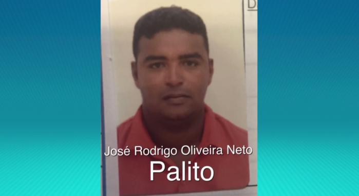 """José Rodrigo Oliveira Neto, vulgo """"Palito"""",  (Crédito: Rede Meio Norte)"""