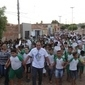 Alunos participam de caminha para comemorar pontuação do IDEB