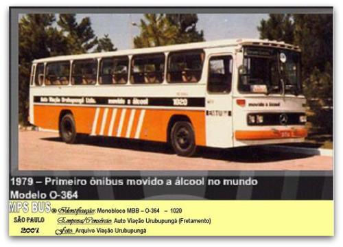 Há 40 anos circulava em Brasília o primeiro ônibus movido a álcool