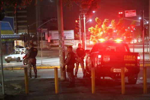 Força Nacional de Segurança começou a ocupar as ruas da Cidade ontem à noite  (Crédito: Mateus Dantas)
