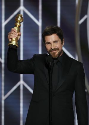 """Christian Bale aceita Globo de Ouro por seu papel em """"Vice"""" (Crédito:  Paul Drinkwater/NBC Universal/Reuters)"""
