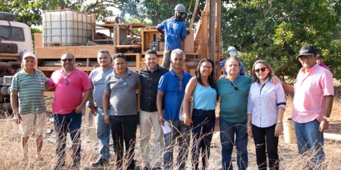Obra de 18 poços tubulares inicia na comunidade Meirim(Barra da Prata, Uruçuí-PI)