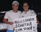 Wesley Safadão realiza sonho de fã de gravar CD