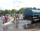 Trabalhadores limpam e reparam Avenida Raul Lopes após a Micarina 2019