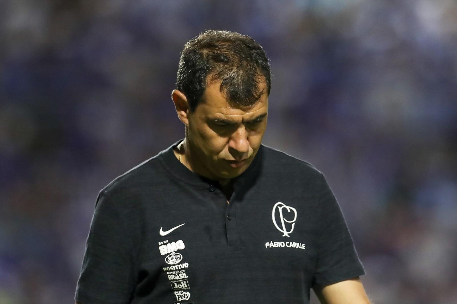 Fábio Carille na partida contra o CSA — Foto: CARLOS EZEQUIEL VANNONI / ESTADÃO CONTEÚDO