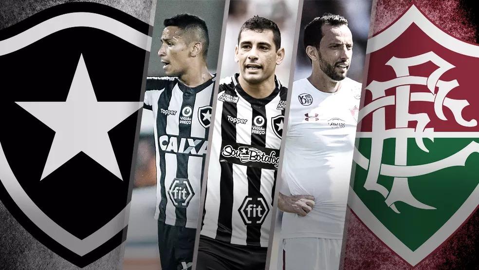 Cícero, Diego Souza e Nenê: líderes rodados de Botafogo e Fluminense — Foto: Infoesporte