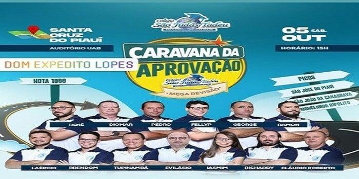 Prefeitura de Dom Expedito Lopes conduz alunos do município para AULÃO PRÉ-ENEM em Santa Cruz do Piauí.